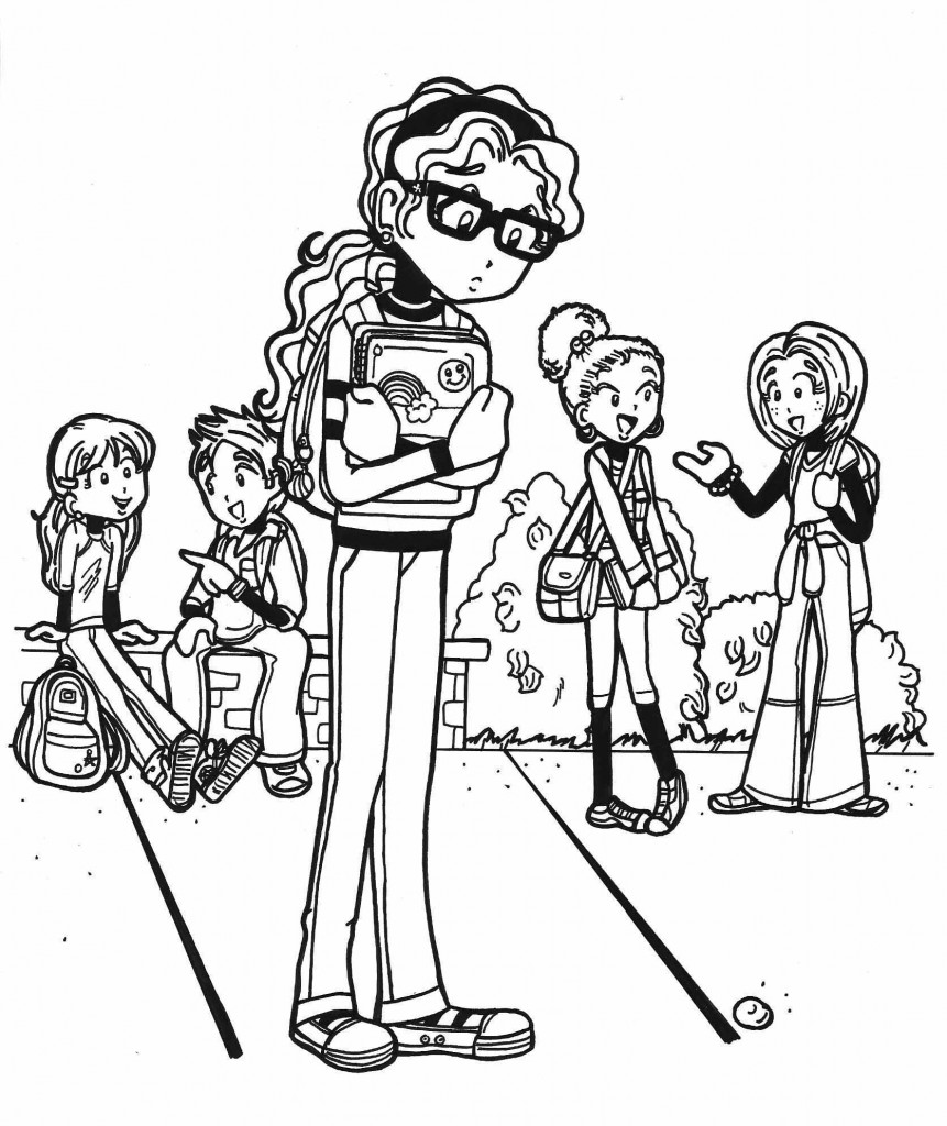 Coloring pages for dork diaries - View Larger Image Image