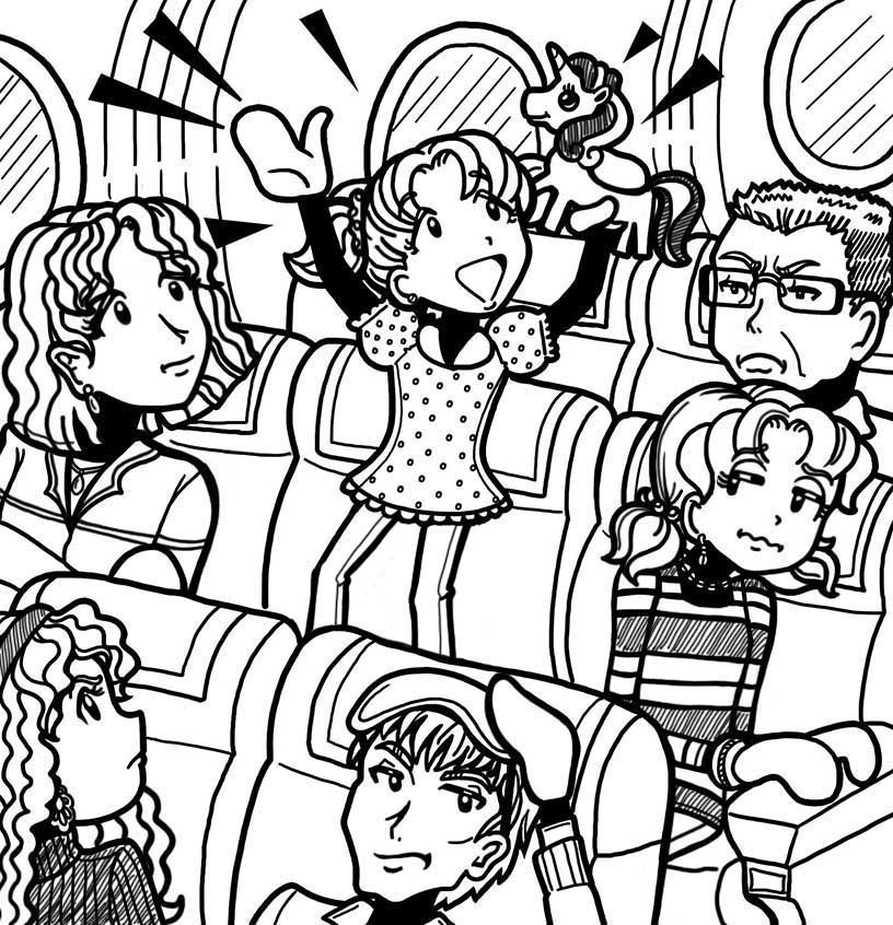 Brianna on a plane