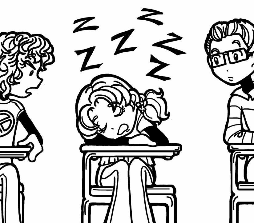 Nikki Asleep In Class