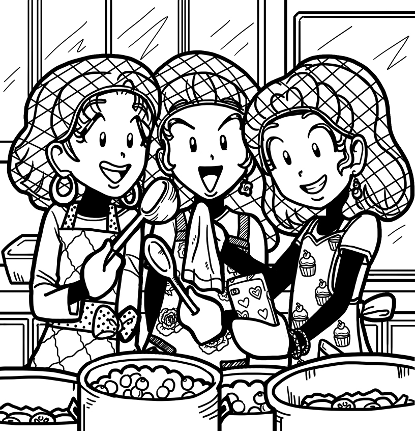 nikki-chloe-and-zoey-helping-out-at-a-soup-kitchen