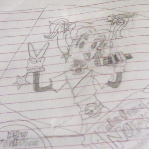 Drawing of Dork Diaries 3 cover in my diary