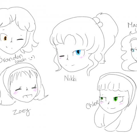 Nikki and Friends sketch
