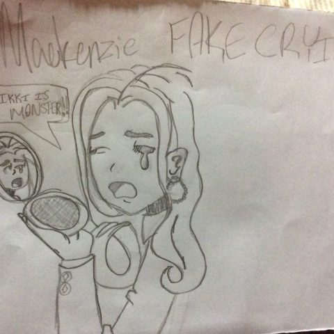 Mackenzie is FAKE CRYING in a mirror!!!!!!!!!!!!!