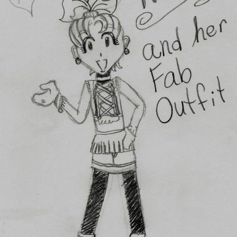 Nikki Modeling her Fab outfit