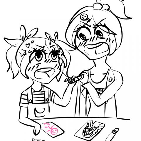 Just Sisters Bonding (Or Arguing)