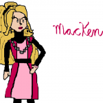 MacKenzie in Dork Diaries- Computer Drawing