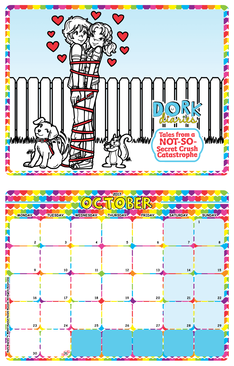 dork diaries-calendar-october2017-preview