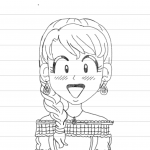 I traced myself from the dork maker this is what I made